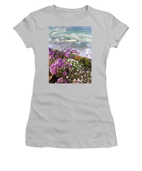 Spring Greets Waves Women's T-Shirt (Junior Cut) by Susan Garren