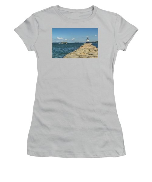 Women's T-Shirt (Junior Cut) featuring the photograph Spring Point Ledge Lighthouse by Jane Luxton