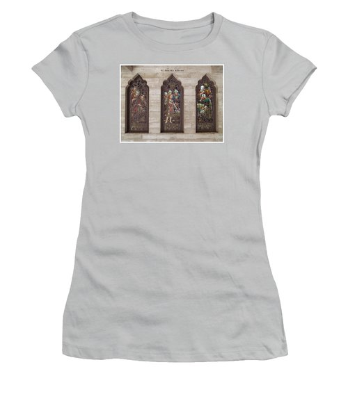 Women's T-Shirt (Junior Cut) featuring the photograph St Josephs Arcade - The Mission Inn by Glenn McCarthy Art and Photography