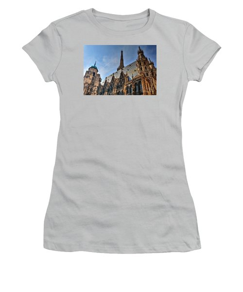 Women's T-Shirt (Junior Cut) featuring the photograph St. Stephen's Cathedral by Joe  Ng