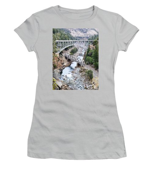 Stacked Bridges Women's T-Shirt (Athletic Fit)