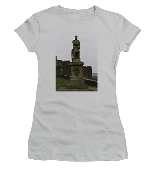 Statue Of Robert The Bruce On The Castle Esplanade At Stirling Castle Women's T-Shirt (Junior Cut)