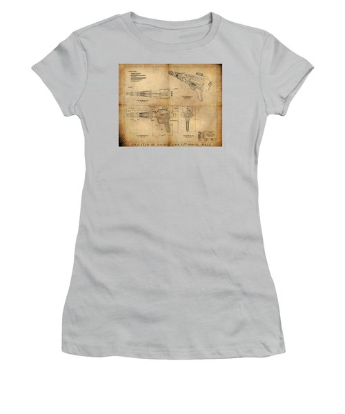 Steampunk Raygun Women's T-Shirt (Junior Cut) by James Christopher Hill