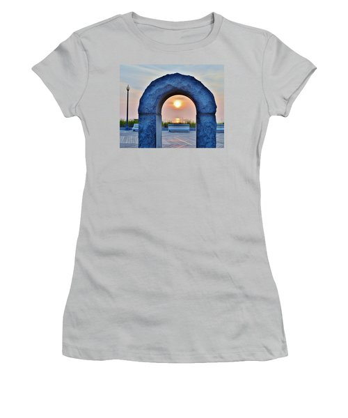 Sunrise Through The Arch - Rehoboth Beach Delaware Women's T-Shirt (Athletic Fit)