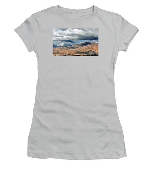 Storm Clouds Floating Above Mountains Women's T-Shirt (Junior Cut)