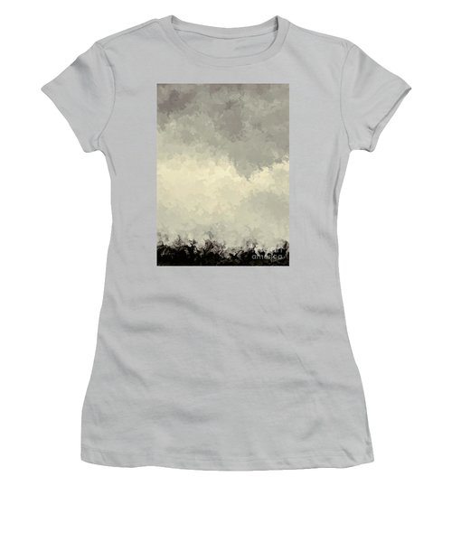 Storm Over A Cornfield Women's T-Shirt (Athletic Fit)