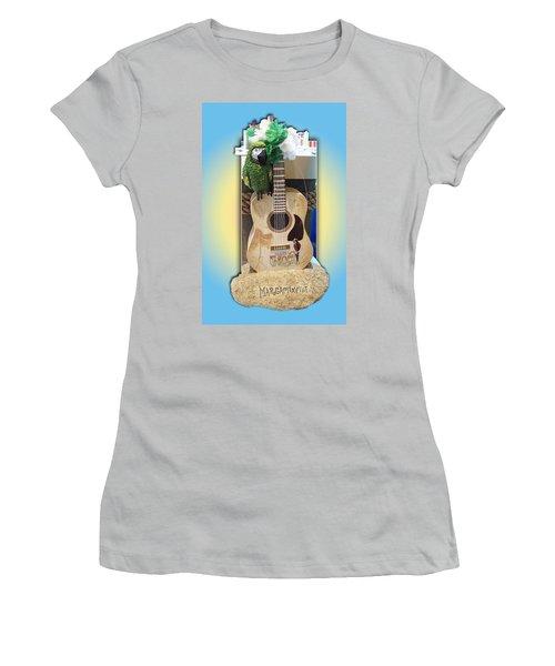 Summer Guitar Women's T-Shirt (Junior Cut) by Barbara McDevitt