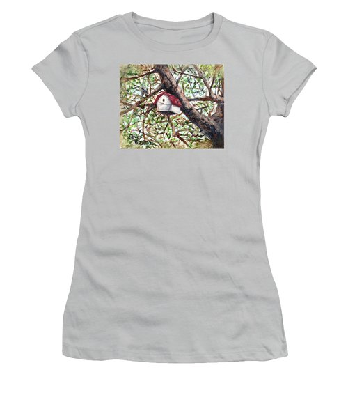 Women's T-Shirt (Junior Cut) featuring the painting Summer Home by Shana Rowe Jackson