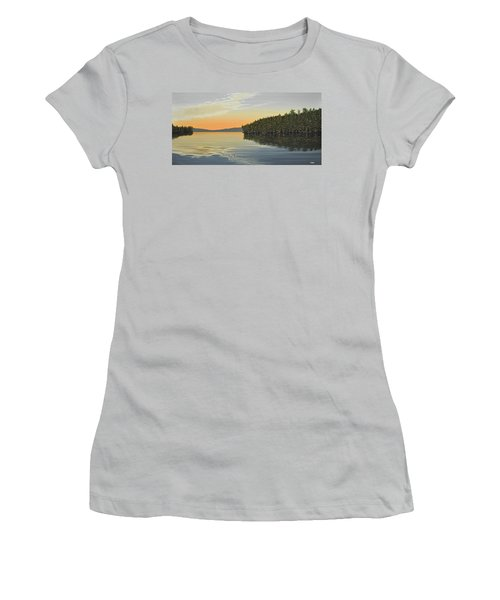 Women's T-Shirt (Junior Cut) featuring the painting Summers End by Kenneth M  Kirsch