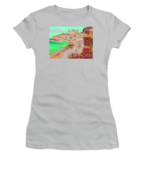 Summertime In Cefalu' Women's T-Shirt (Athletic Fit)