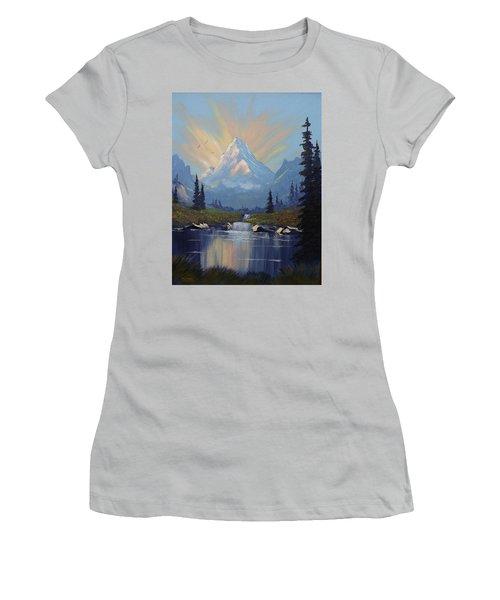 Sunburst Landscape Women's T-Shirt (Junior Cut) by Richard Faulkner