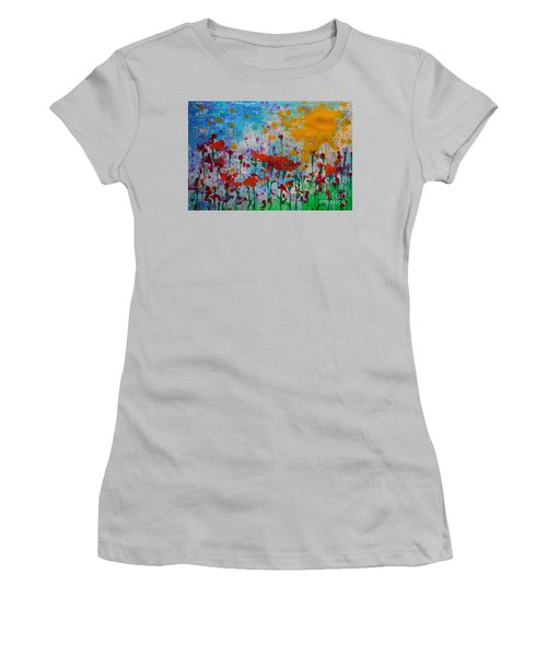 Sunny Day Women's T-Shirt (Junior Cut) by Jacqueline Athmann