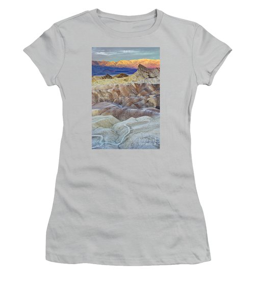 Sunrise In Death Valley Women's T-Shirt (Junior Cut) by Juli Scalzi