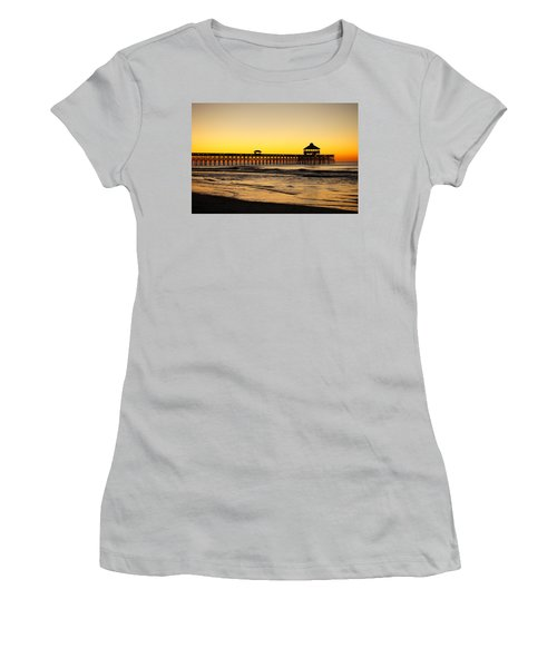 Sunrise Pier Folly Beach Sc Women's T-Shirt (Athletic Fit)