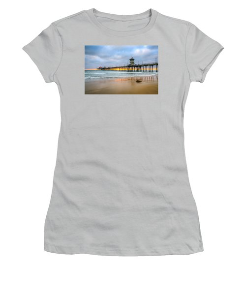 Sunset Drifting Under The Pier Women's T-Shirt (Athletic Fit)