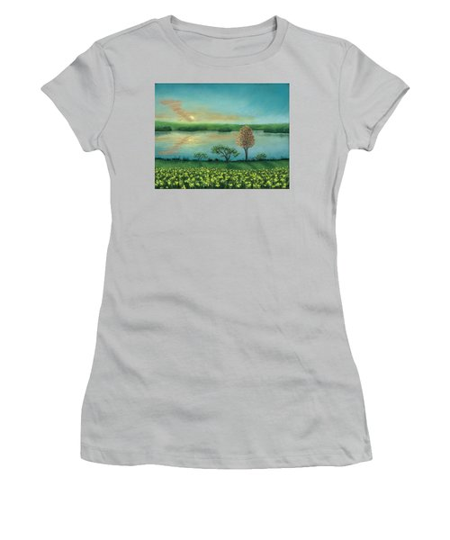 Sunset Lake B Women's T-Shirt (Athletic Fit)