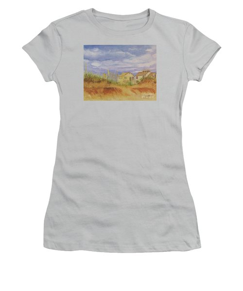Sunset Nantucket Beach Women's T-Shirt (Junior Cut)