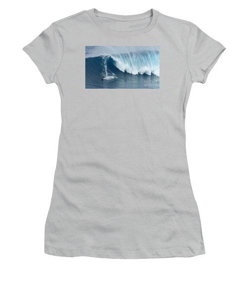Surfing Jaws 5 Women's T-Shirt (Junior Cut) by Bob Christopher