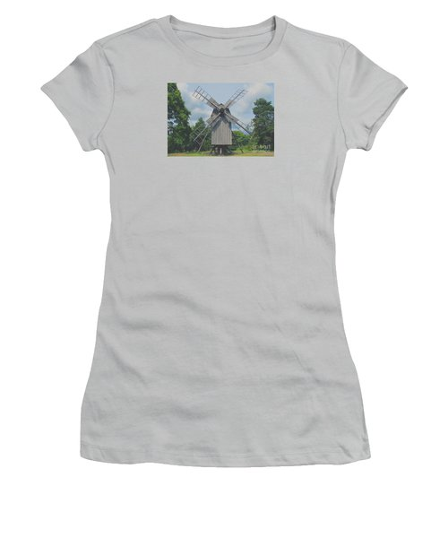 Women's T-Shirt (Junior Cut) featuring the photograph Swedish Old Mill by Sergey Lukashin