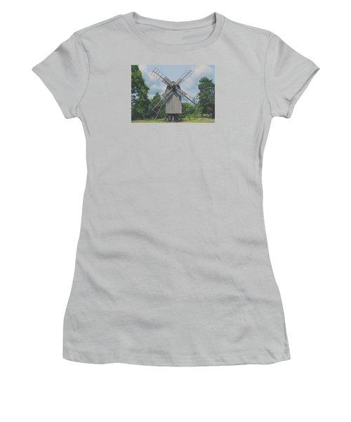 Swedish Old Mill Women's T-Shirt (Junior Cut) by Sergey Lukashin