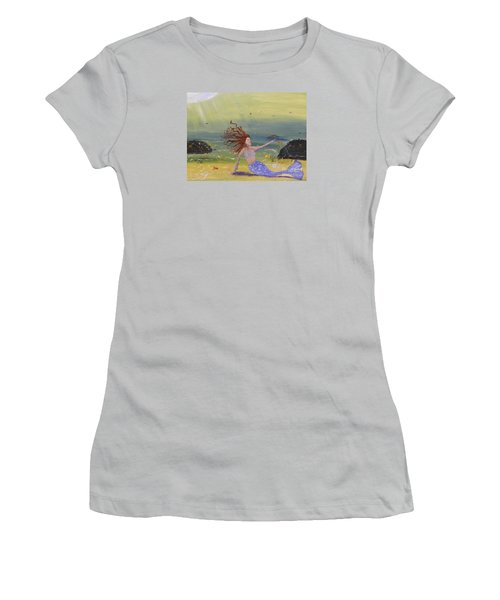 Talking To The Fishes Women's T-Shirt (Junior Cut) by Pamela  Meredith
