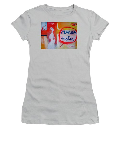 Women's T-Shirt (Junior Cut) featuring the painting Tango by Ana Maria Edulescu