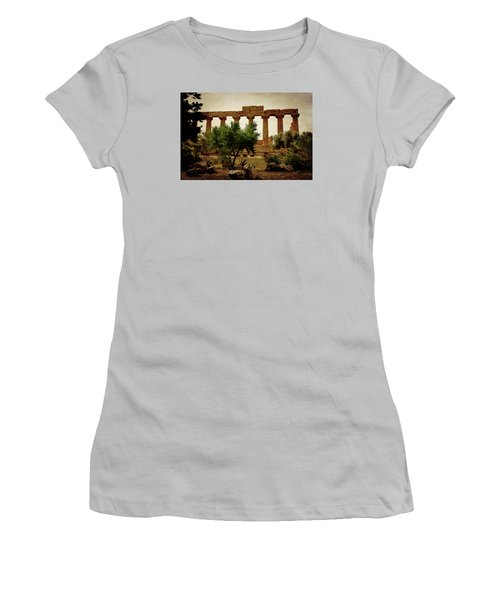 Temple Of Juno Lacinia In Agrigento Women's T-Shirt (Athletic Fit)