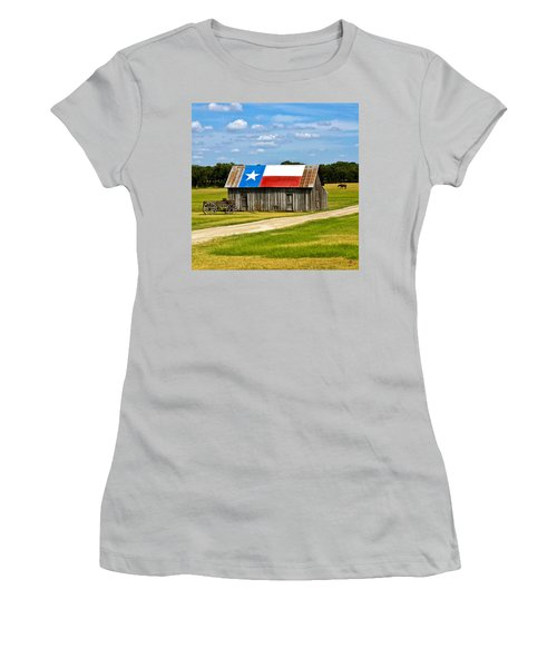 Texas Barn Flag Women's T-Shirt (Athletic Fit)