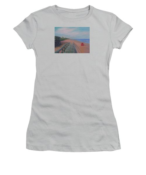 The Beach At Flagler Beach Women's T-Shirt (Athletic Fit)