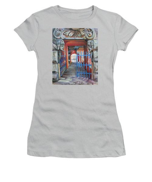The Blue Gate Women's T-Shirt (Junior Cut) by Marina Gnetetsky