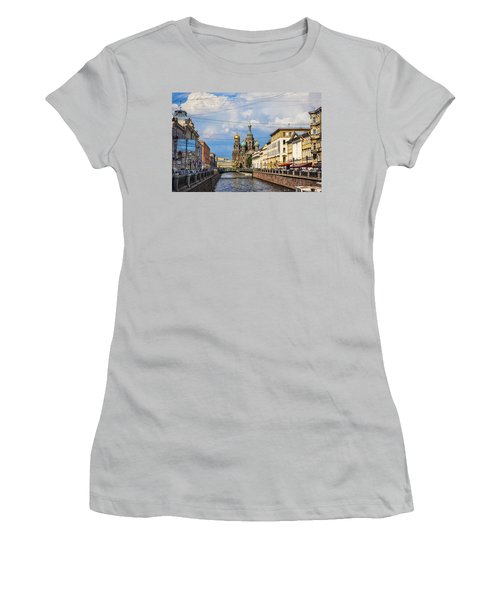 The Church Of Our Savior On Spilled Blood - St. Petersburg - Russia Women's T-Shirt (Junior Cut) by Madeline Ellis