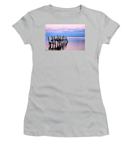Women's T-Shirt (Junior Cut) featuring the photograph The Cove Dock by Brian Hughes
