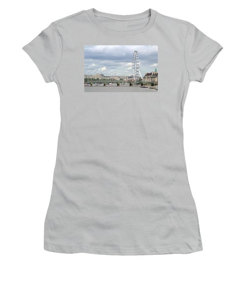 Women's T-Shirt (Junior Cut) featuring the photograph The Eye Of London by Keith Armstrong