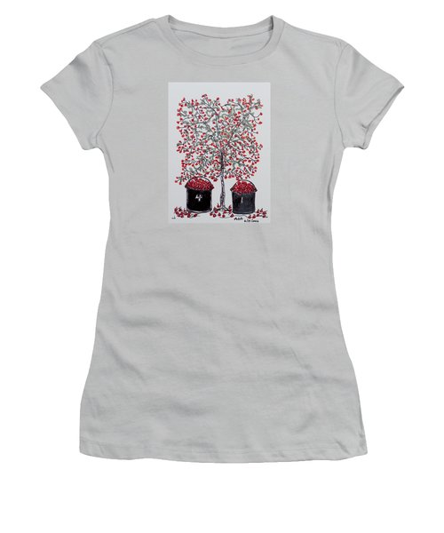 The Famous Door County Cherry Tree Women's T-Shirt (Athletic Fit)
