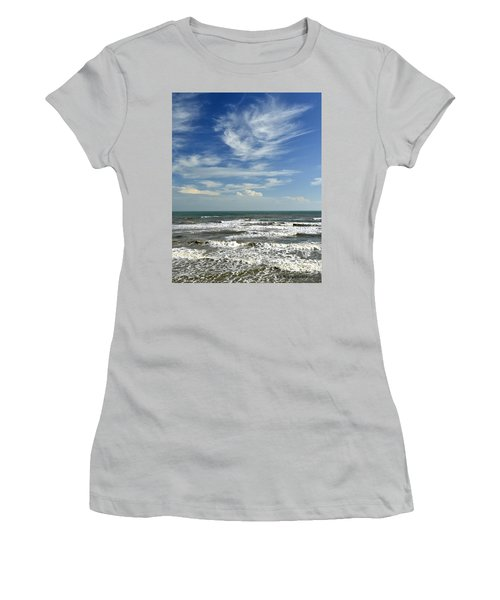 The Gulf Of Mexico From Galveston Women's T-Shirt (Athletic Fit)