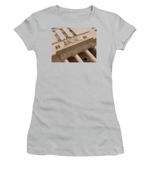 Women's T-Shirt (Junior Cut) featuring the photograph The Historical Federal Reserve Bank Of Dallas by Robert ONeil