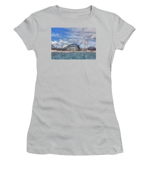 The Jersey Shore Women's T-Shirt (Junior Cut) by Lori Deiter