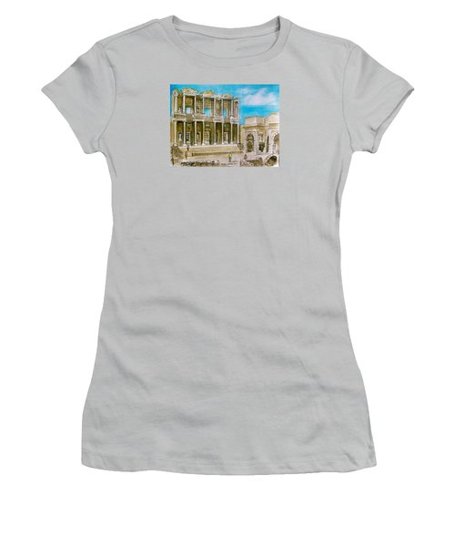 The Library At Ephesus Turkey Women's T-Shirt (Junior Cut) by Frank Hunter