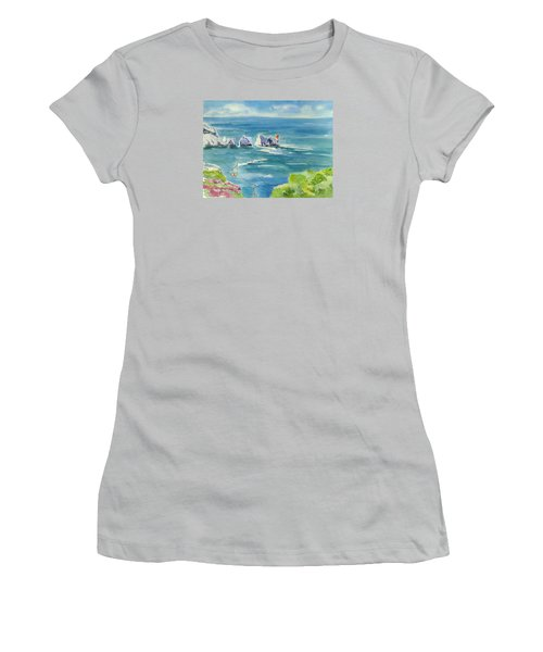 The Needles Isle Of Wight Women's T-Shirt (Junior Cut) by Geeta Biswas