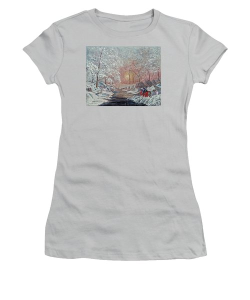 The Quest Begins Women's T-Shirt (Junior Cut) by Anthony Lyon