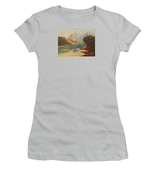 The River Flowing From A High Mountain Women's T-Shirt (Athletic Fit)