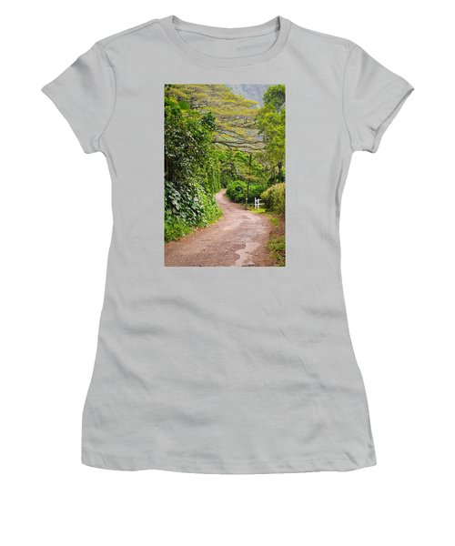 The Road Less Traveled Women's T-Shirt (Junior Cut) by Denise Bird