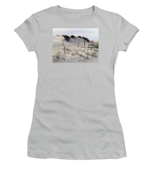 Women's T-Shirt (Junior Cut) featuring the photograph The Sands Of Obx by Greg Reed
