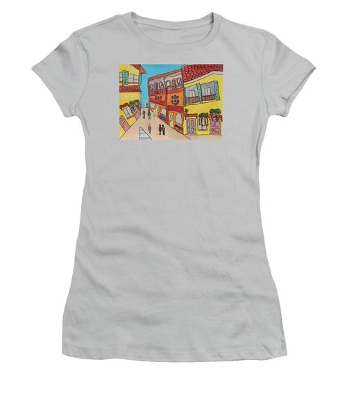 The Walled City Women's T-Shirt (Junior Cut) by Artists With Autism Inc