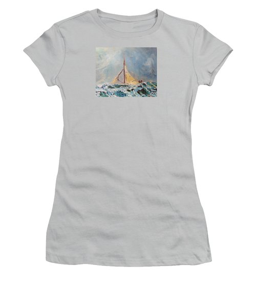 Women's T-Shirt (Junior Cut) featuring the painting There's Always Hope by Michael Helfen