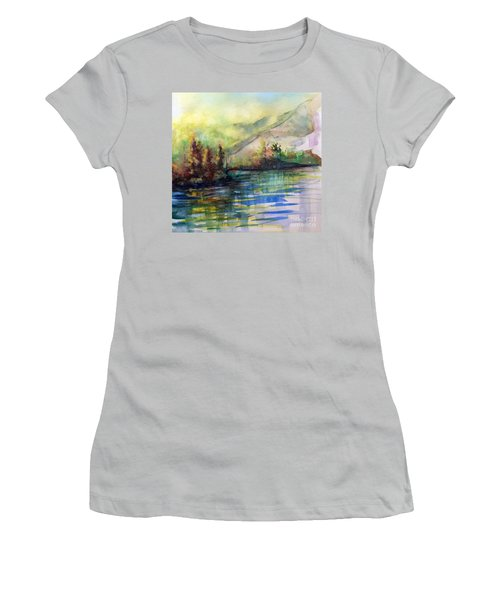 Women's T-Shirt (Junior Cut) featuring the painting Thinking Of Sargent by Allison Ashton