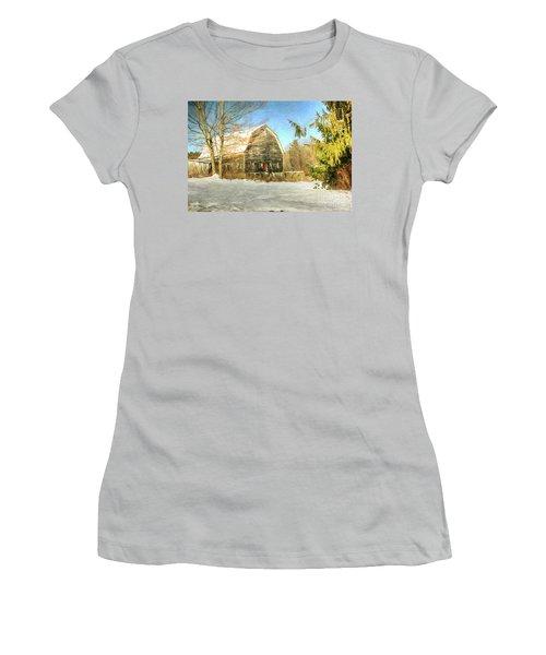 This Old Barn Women's T-Shirt (Junior Cut) by Tina  LeCour