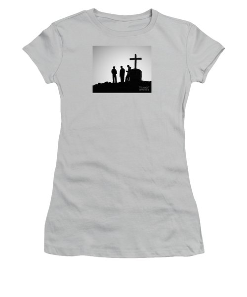 Three At The Cross Women's T-Shirt (Athletic Fit)