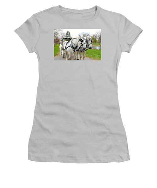Tillie And Bruce Women's T-Shirt (Junior Cut) by Jeannie Rhode