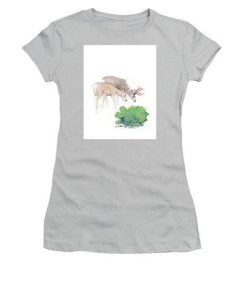 Women's T-Shirt (Junior Cut) featuring the painting Too Dear by C Sitton